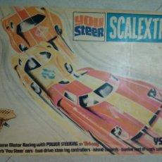 Scalextric: CAJA VACIA DEL SET SCALEXTRIC YOU STEER YS300 (TRI-ANG, UK) ESTUCHE SIN PISTAS, COCHES NI ACCESORIOS. Lote 150667106