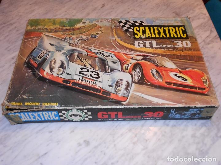 SCALEXTRIC VINTAGE EXIN CIRCUITO GTLEMANS 30 CAJA PISTAS SLOT GTL-30 MADE IN SPAIN AÑOS 70 (Juguetes - Slot Cars - Scalextric Pistas y Accesorios)