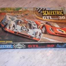 Scalextric: SCALEXTRIC VINTAGE EXIN CIRCUITO GTLEMANS 30 CAJA PISTAS SLOT GTL-30 MADE IN SPAIN AÑOS 70. Lote 36580232
