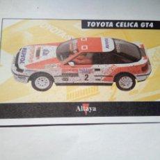 Scalextric: ALTAYA TARJETA TOYOTA CELICA GT4. Lote 153091650