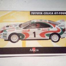 Scalextric: ALTAYA TARJETA TOYOTA CELICA GT-FOUR. Lote 153091738
