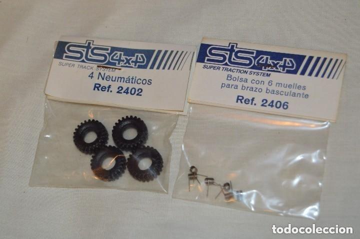VINTAGE - 2 BLISTERS PRECINTADOS NOS - 4 NEUMÁTICOS Y 6 MUELLES - STS 4X4 SCALEXTRIC - MADE IN SPAIN (Juguetes - Slot Cars - Scalextric Pistas y Accesorios)
