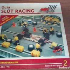 Scalextric: GUIA SLOT RACING Nº2 1996-FICHAS DEL FORD RS 200 Y PORSCHE 959. Lote 155603982