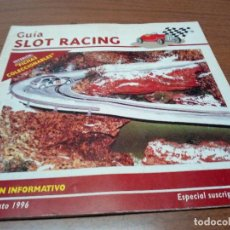 Scalextric: GUIA SLOT RACING Nº4 1996-FICHAS DEL CHEVROLET CORVETTE DRAGSTER Y LOTUS MK IV F1. Lote 155605062