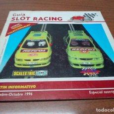 Scalextric: -GUIA SLOT RACING Nº5 1996-FICHAS DEL LIGIER JS II F1 Y MED BRABHAM BT 46 F1. Lote 155605482