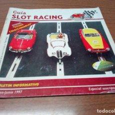 Scalextric: -GUIA SLOT RACING Nº9 1997-FICHAS DEL TOYOTA CELICA GT Y AUDI 90 IMSA. Lote 155607066