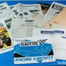 Scalextric: LOTE 15 DOCUMENTOS SCALEXTRIC 1969 Y 1970: CATALOGOS, REVISTA, TARIFAS, CARTA ALTA CLUB, SOBRES, ETC. Lote 156645998