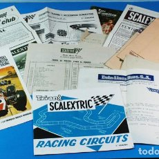 Scalextric: LOTE 15 DOCUMENTOS SCALEXTRIC 1969 Y 1970: CATALOGOS, REVISTA, TARIFAS, CARTA ALTA CLUB, SOBRES, ETC. Lote 156645998
