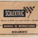Scalextric: SCALEXTRIC. MANUAL DE INSTRUCCIONES Y REGLAMENTO.. Lote 159795386