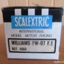 Scalextric: SCALEXTRIC: CAJA VACIA DEL MODELO DE COCHE, WILLIAMS FW-07 F.1 REF. C-4068 ( TAPA CON ROTURA, LEER ). Lote 160691169