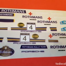 Scalextric: SCALEXTRIC EXIN ADHESIVO PORSCHE 911 ROTHMANS. Lote 210768886