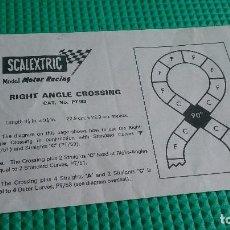 Scalextric: INSTRUCCIONES SCALEXTRIC CRUCE PT/83 UK. Lote 162910094