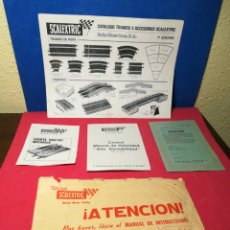 Scalextric: VARIOS DOCUMENTOS ANTIGUOS SCALEXTRIC. Lote 165884118