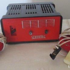 Scalextric: SCALEXTRIC TRANSFORMADOR RECTIFICADOR TR1 Y DOS MANDOS. Lote 166781654