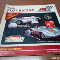 Scalextric: -GUIA SLOT RACING Nº22 - FICHAS RENAULT ALPINE 2000 TURBO Y FERRARI GT 330. Lote 173903149
