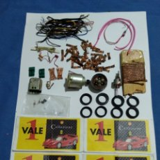 Scalextric: LOTE PIEZAS SCALEXTRIC Y 4 VALES SHELL COLLEZIONE. Lote 174190837