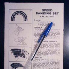 Scalextric: DOCUMENTACIÓN SCALEXTRIC TRI-ANG: SPEED BANKING SET CAT. NO. PT/97 - INSTRUCCIONES, ORIGINAL UK -. Lote 175134988