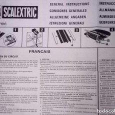 Scalextric: INSTRUCCIONES GENERALES SCALEXTRIC TRI-ANG YOU STEER - DOCUMENTACIÓN ORIGINAL AÑOS 70 UK- . Lote 175135309