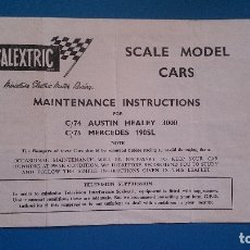 Scalextric: INSTRUCCIONES SCALEXTRIC C74 C75 MERCEDES AUSTIN HEALEY TRI-ANG. Lote 176903622