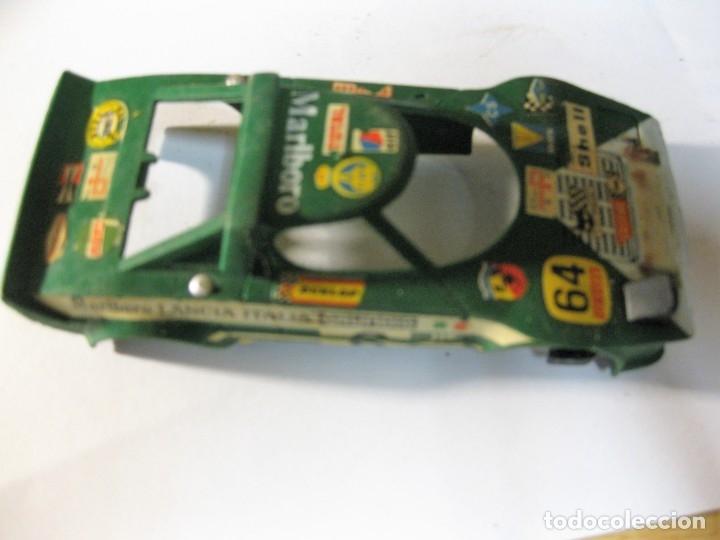 CARROCERIA COCHE SCALEXTRIC LANCIA Nº 6 . ROTURA DE UN FARO (Juguetes - Slot Cars - Scalextric Pistas y Accesorios)