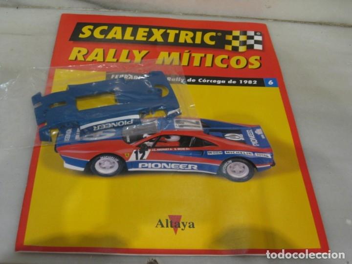 SCALEXTRIC RALLY MÍTICOS FERRARI FASCÍCULO 6 Y CHASIS. (Juguetes - Slot Cars - Scalextric Pistas y Accesorios)