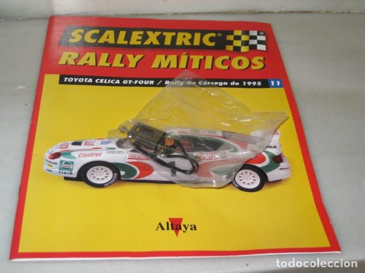 SCALEXTRIC RALLY MÍTICOS TOYOTA CELICA - FASCÍCULO 11 Y MOTOR. (Juguetes - Slot Cars - Scalextric Pistas y Accesorios)