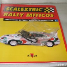 Scalextric: SCALEXTRIC RALLY MÍTICOS TOYOTA CELICA - FASCÍCULO 11 Y MOTOR.. Lote 182665727