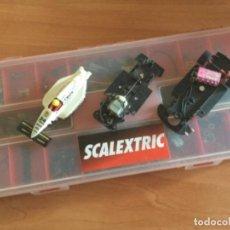 Scalextric: CAJA SCALEXTRIC CON RECAMBIOS, REPUESTOS Y PIEZAS DE DESGUACE. Lote 183368438