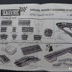 Scalextric: CATALOGO TRAMOS Y ACCESORIOS SCALEXTRIC EXIN 3ª. EDICION ORIGINAL. Lote 185892496