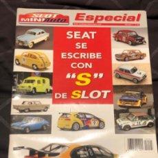 Scalextric: SLOT MINI AUTO REVISTA ESPECIAL HISTORIA SEAT. Lote 191749311