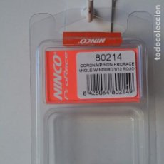 Scalextric: REPUESTO NINCO CORONA/PIÑÓN PRORACE ANGLE WINDER31/13 ROJO REF. 80214. Lote 192288336