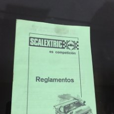 Scalextric: ESCALEXTRIC REGLAMENTOS. Lote 194175221