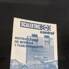 Scalextric: ESCALEXTRIC INSTRUCCIONES DE MONTAJE Y MANTENIMIENTO. Lote 194175327