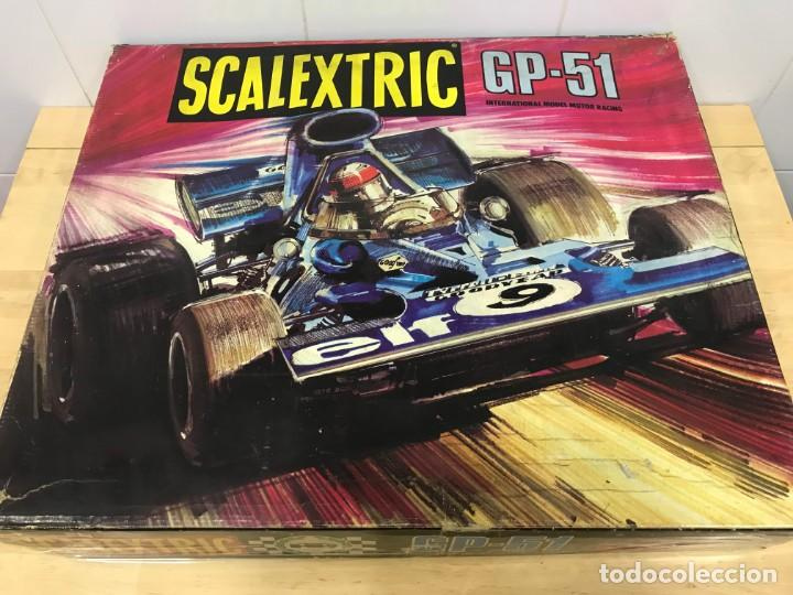 SCALEXTRIC GP51 ORIGINAL EN CAJA COMPLETO + 6 COCHES (Juguetes - Slot Cars - Scalextric Pistas y Accesorios)