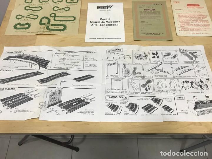 Scalextric: SCALEXTRIC GP51 ORIGINAL EN CAJA COMPLETO + 6 COCHES - Foto 11 - 194184797