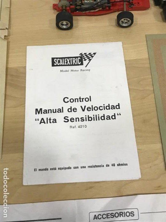 Scalextric: SCALEXTRIC GP51 ORIGINAL EN CAJA COMPLETO + 6 COCHES - Foto 13 - 194184797