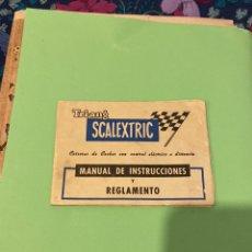Scalextric: MANUAL INSTRUCCIONES Y REGLAMENTO SCALEXTRIC. Lote 194219965