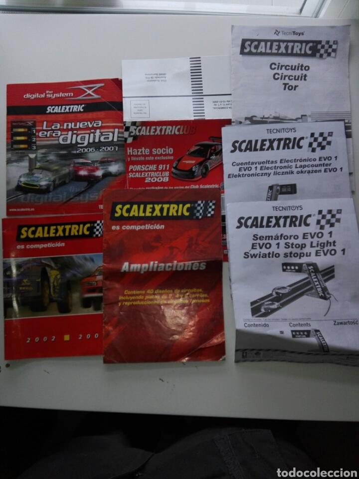 LOTE DE DOCUMENTACIÓN VARIADA INSTRUCCIONES, ETC SCALEXTRIC (Juguetes - Slot Cars - Scalextric Pistas y Accesorios)