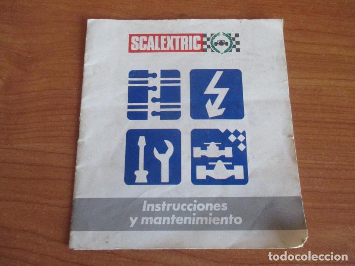 SCALEXTRIC: MANUAL DE INSTRUCCIONES Y MANTENIMIENTO (Juguetes - Slot Cars - Scalextric Pistas y Accesorios)