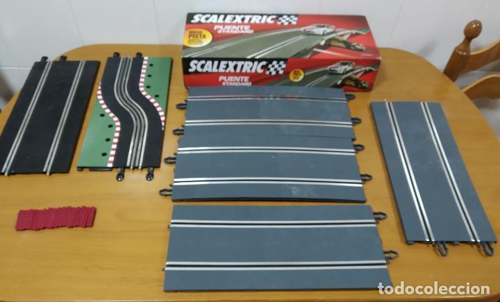 Scalextric: SCALEXTRIC. PRECIOSA CAJA ORIGINAL PUENTE STANDARD. (VER COMENTARIO Y FOTOS) - Foto 2 - 194571872