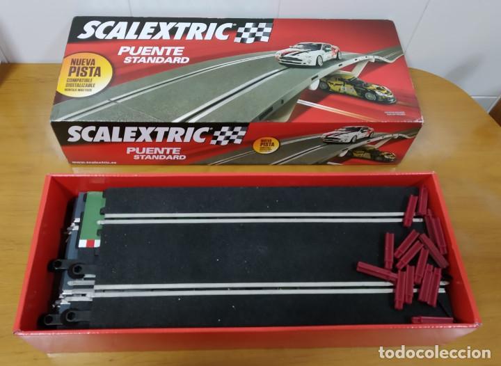 Scalextric: SCALEXTRIC. PRECIOSA CAJA ORIGINAL PUENTE STANDARD. (VER COMENTARIO Y FOTOS) - Foto 3 - 194571872