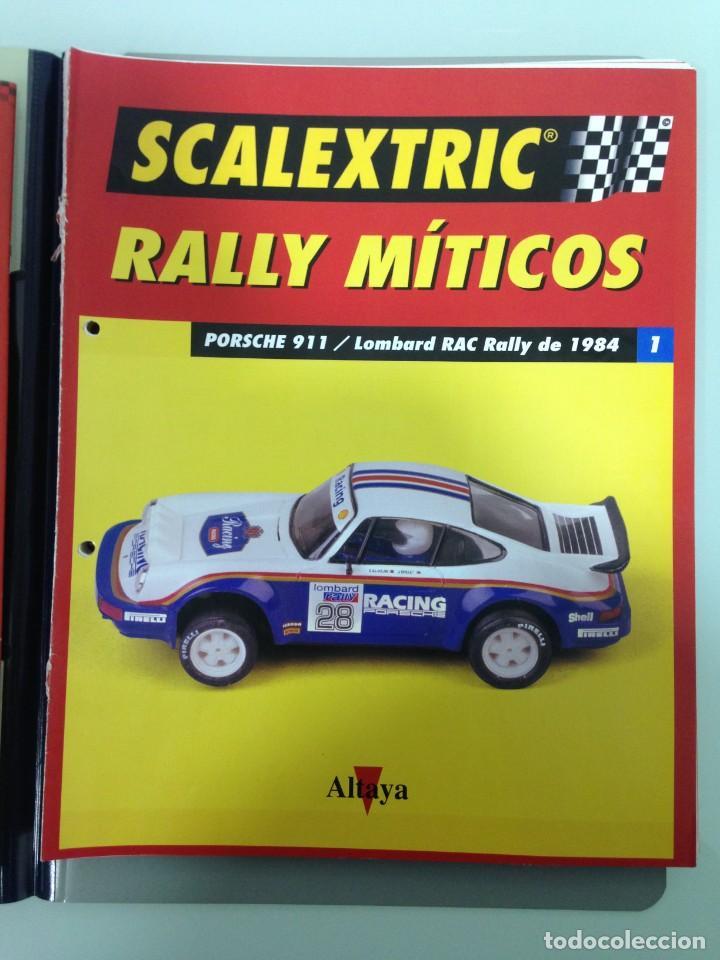 Scalextric: LOTE 12 FASCICULOS SCALEXTRIC RALLY MITICOS, TECNITOYS-ALTAYA, 1-5-9-13-17-21-25-29-33-37-41 Y 45 - Foto 2 - 194605965