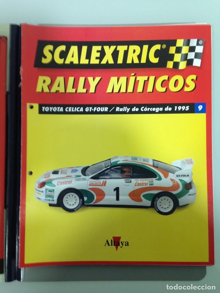 Scalextric: LOTE 12 FASCICULOS SCALEXTRIC RALLY MITICOS, TECNITOYS-ALTAYA, 1-5-9-13-17-21-25-29-33-37-41 Y 45 - Foto 4 - 194605965
