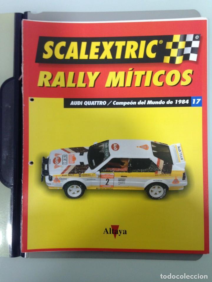 Scalextric: LOTE 12 FASCICULOS SCALEXTRIC RALLY MITICOS, TECNITOYS-ALTAYA, 1-5-9-13-17-21-25-29-33-37-41 Y 45 - Foto 6 - 194605965