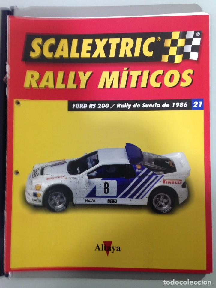 Scalextric: LOTE 12 FASCICULOS SCALEXTRIC RALLY MITICOS, TECNITOYS-ALTAYA, 1-5-9-13-17-21-25-29-33-37-41 Y 45 - Foto 7 - 194605965