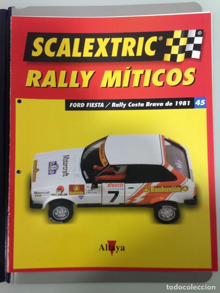 Scalextric: LOTE 12 FASCICULOS SCALEXTRIC RALLY MITICOS, TECNITOYS-ALTAYA, 1-5-9-13-17-21-25-29-33-37-41 Y 45 - Foto 13 - 194605965