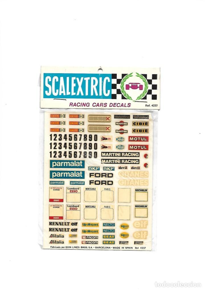 SCALEXTRIC RACING CARS DECALS (Juguetes - Slot Cars - Scalextric Pistas y Accesorios)