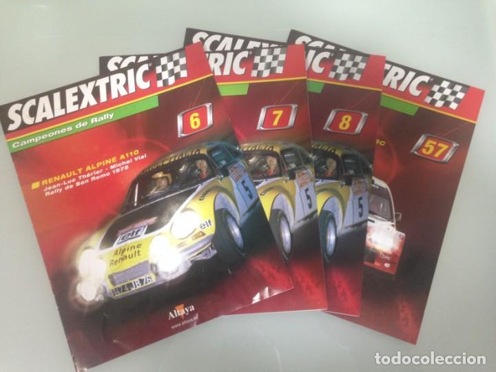 LOTE 4 FASCICULOS SCALEXTRIC CAMPEONES DE RALLY, 6, 7, 8 Y 57 (Juguetes - Slot Cars - Scalextric Pistas y Accesorios)