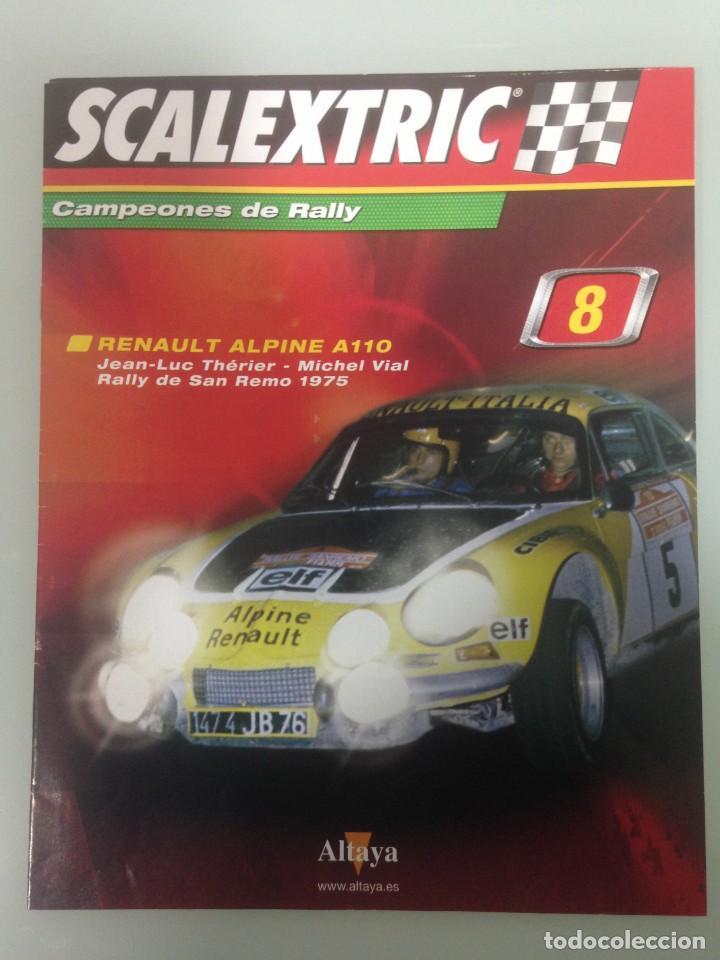 Scalextric: LOTE 4 FASCICULOS SCALEXTRIC CAMPEONES DE RALLY, 6, 7, 8 Y 57 - Foto 6 - 195134451