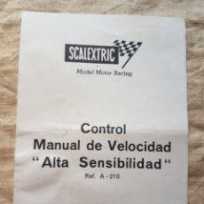 Scalextric: SCALEXTRIC CONTROL CONTROL MANUAL VELOCIDAD AÑOS 60 W. Lote 199193141
